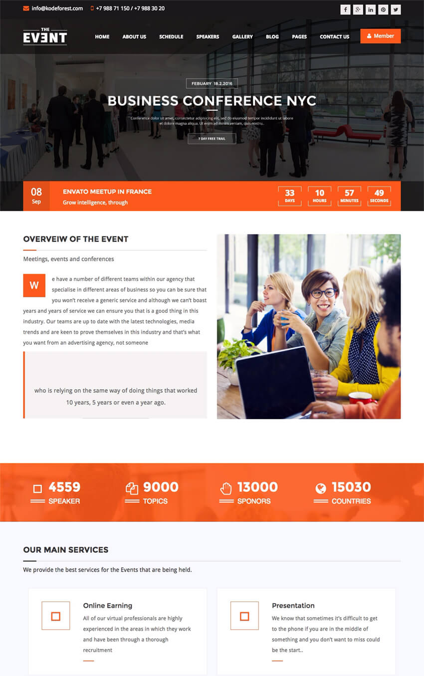 TheEvent  Event Management WP Theme