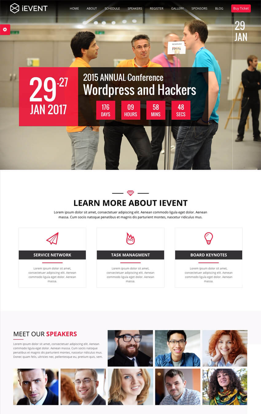 iEvent Event and Conference WordPress Theme