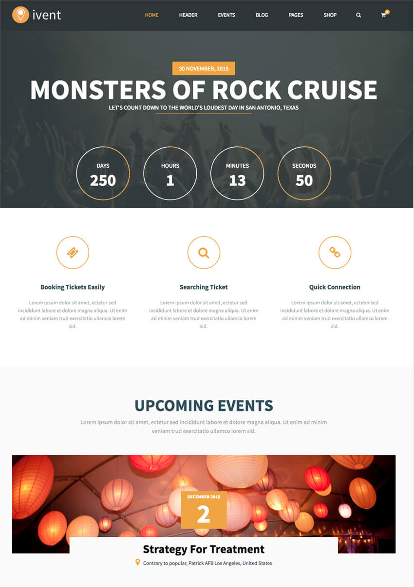 iVent Multipurpose Event WP Theme