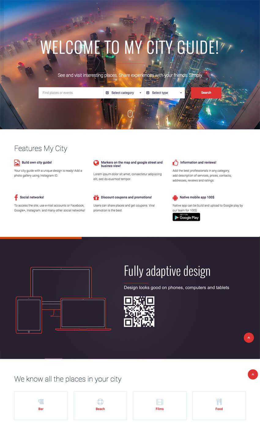 MyCity Directory  Events WP Template