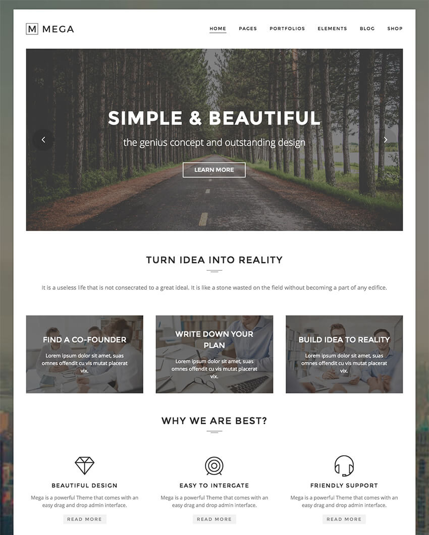 Mega Creative Modern WordPress Theme