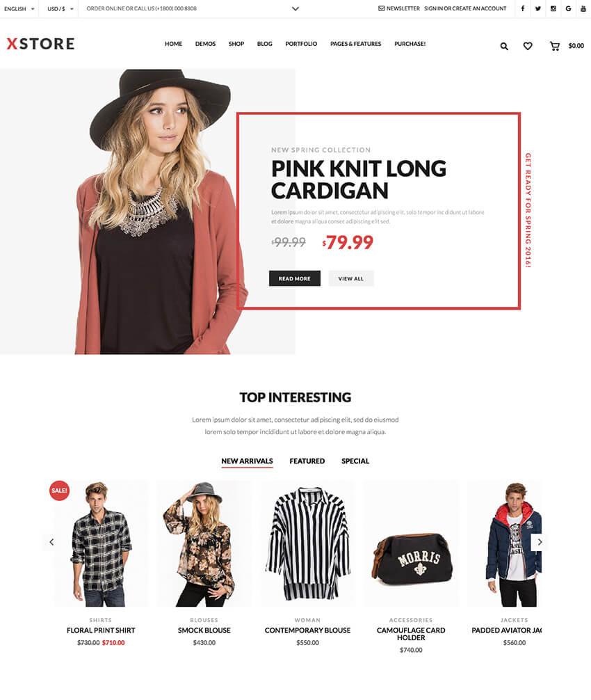 XStore Simple Minimal WordPress WooCommerce Theme