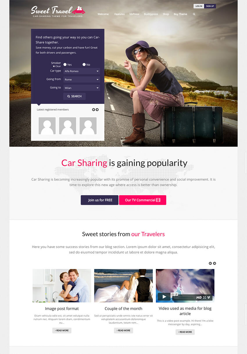 Sweet Date - WP BuddyPress Social Theme
