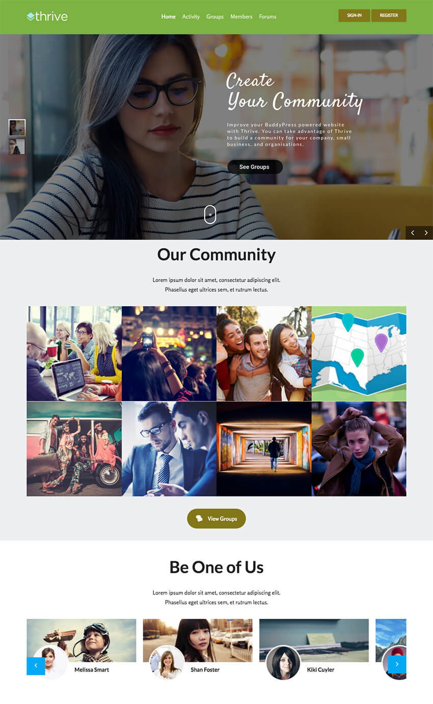 Thrive WordPress Community Theme