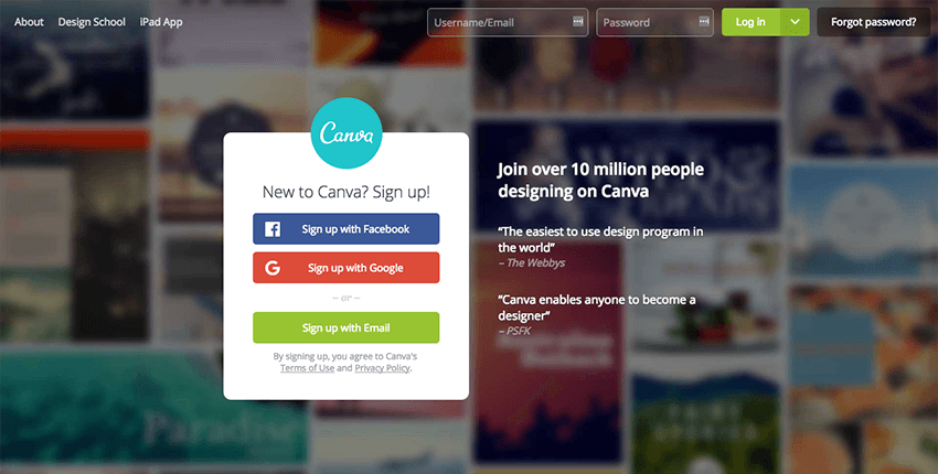 Canva - Social Media design tool