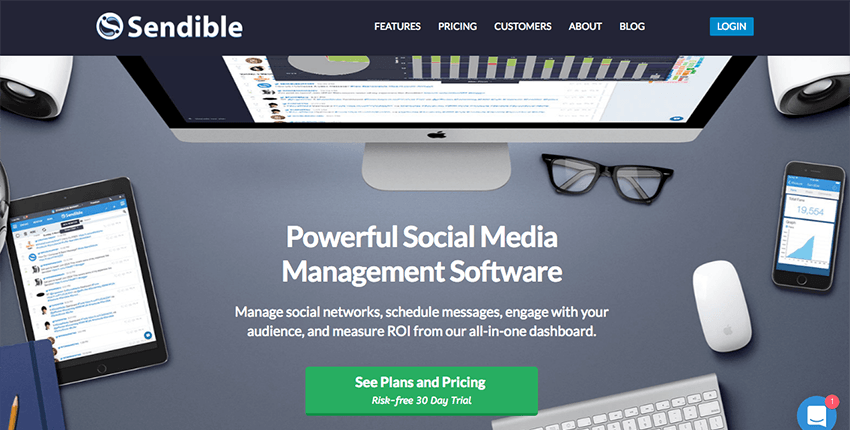 Sendible - Blog integrated social media management tool