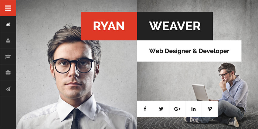 Divergent Personal Resume WordPress Theme