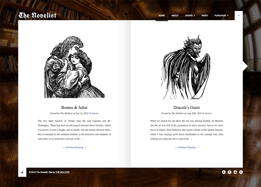 The Novelist Creative WordPress Theme for Writers