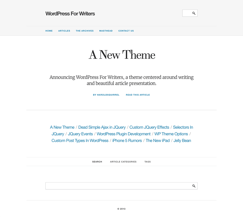WordPress for Writers - WP Author Theme