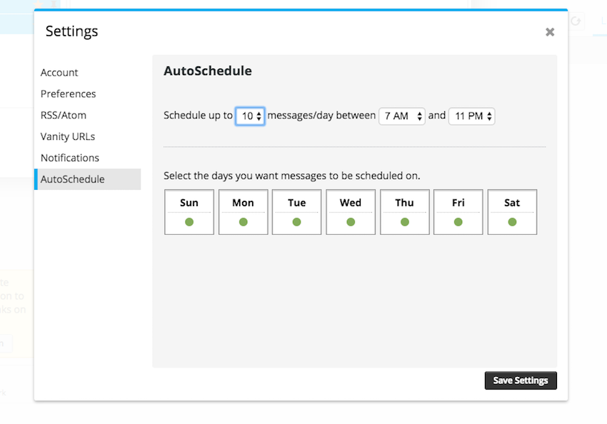 autoscheduling in Hootsuite