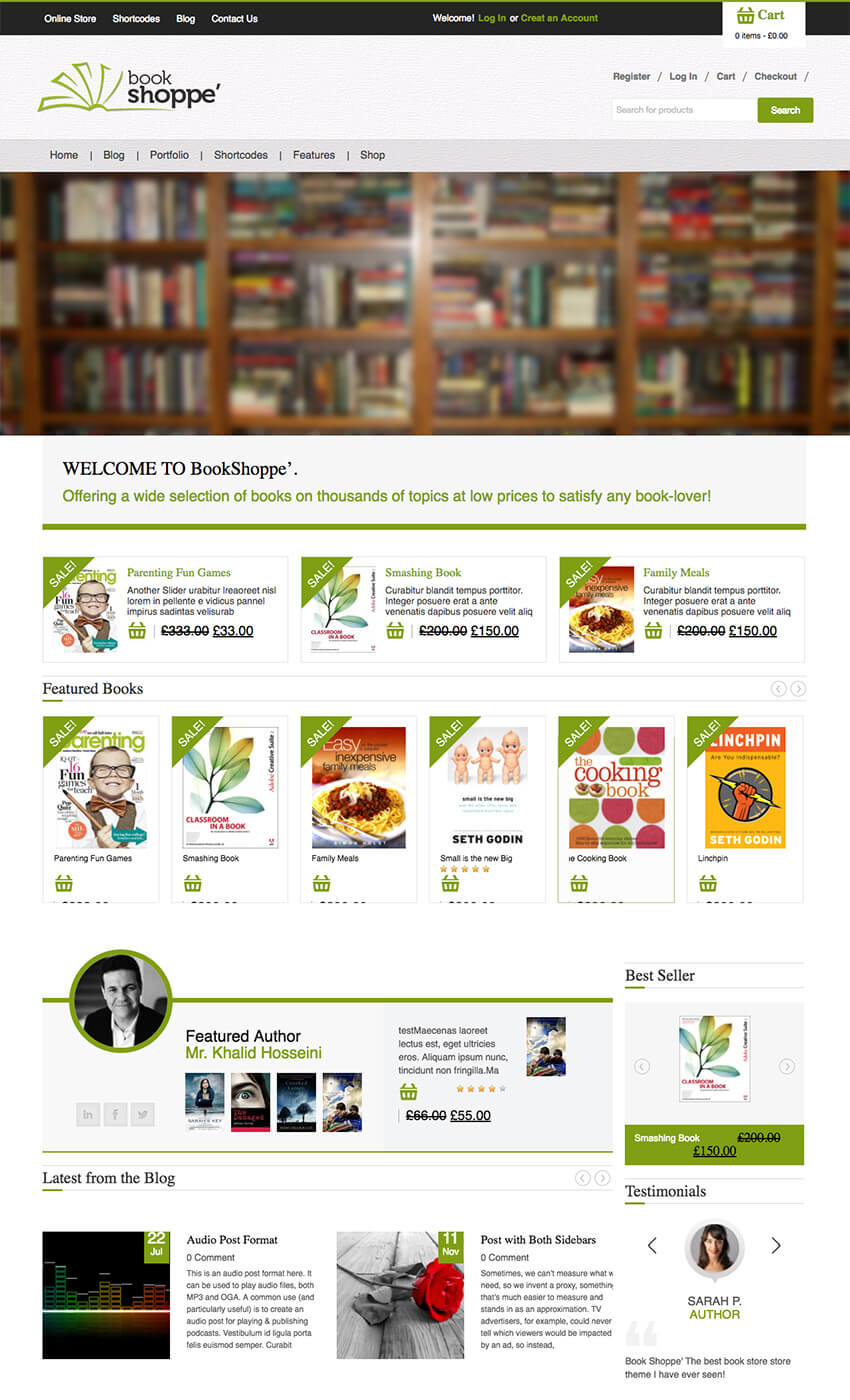 Bookstore WordPress Theme for Author Book Shops