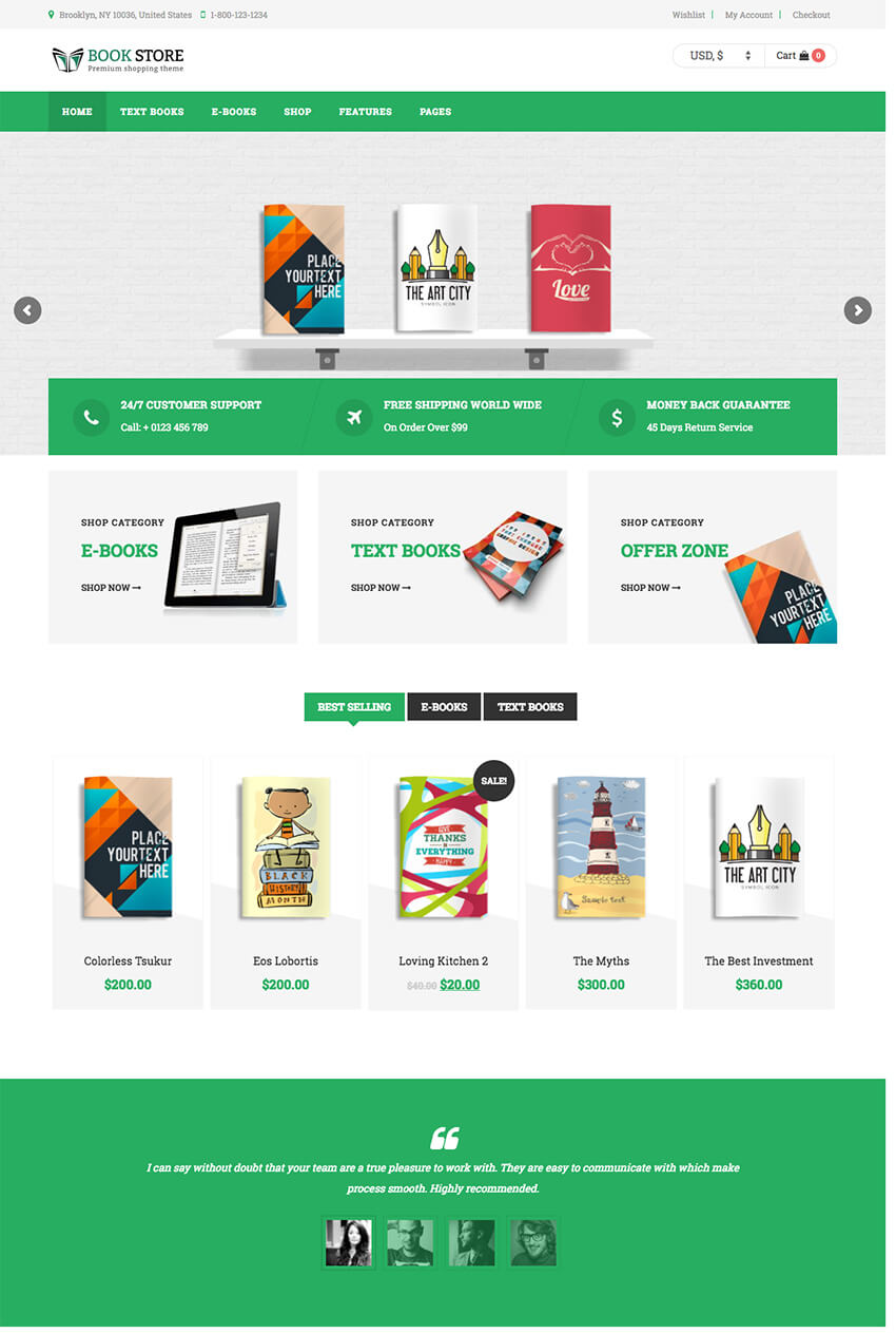 Book Store Personal WordPress Author Theme