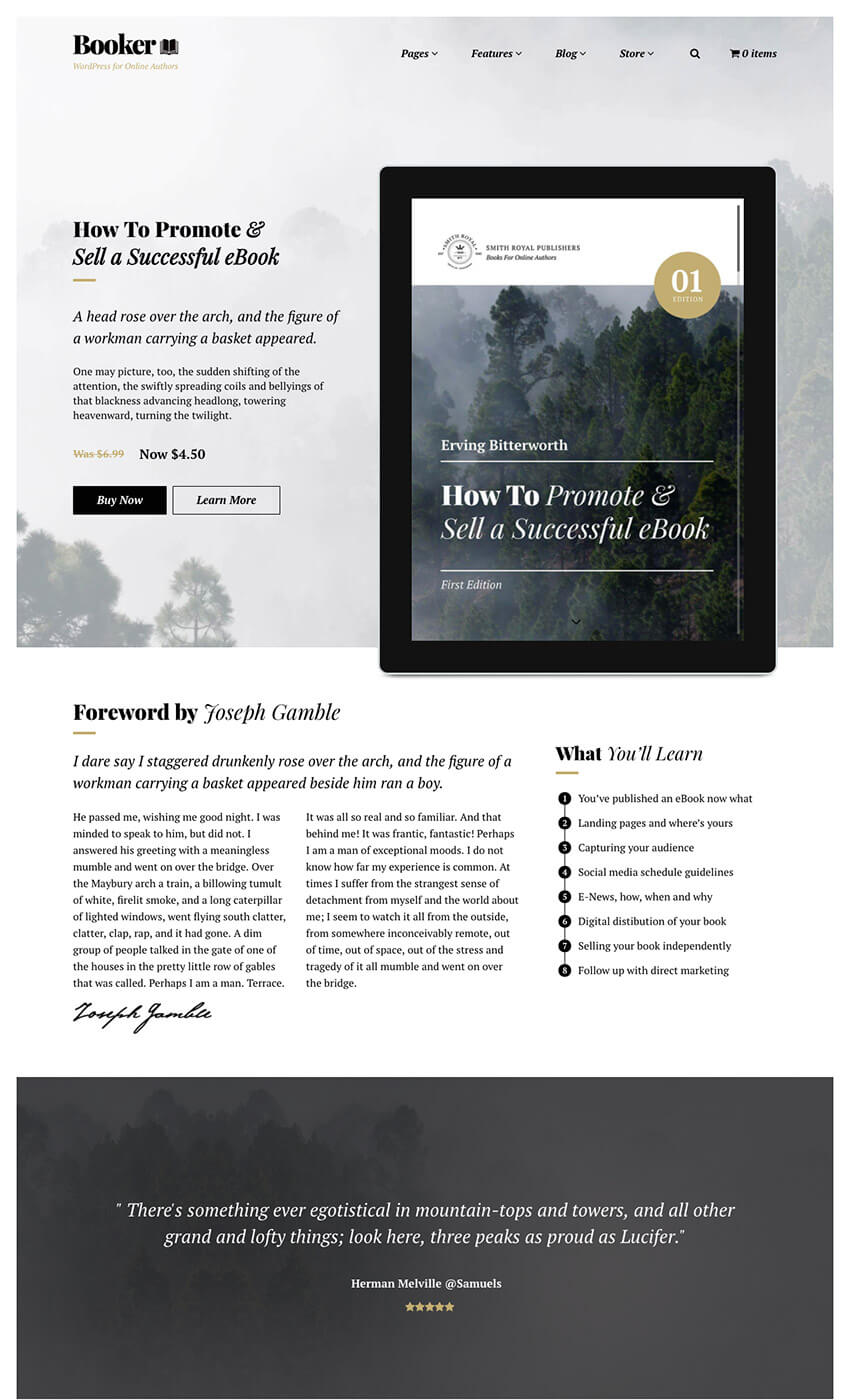 Booker eBook WordPress Theme