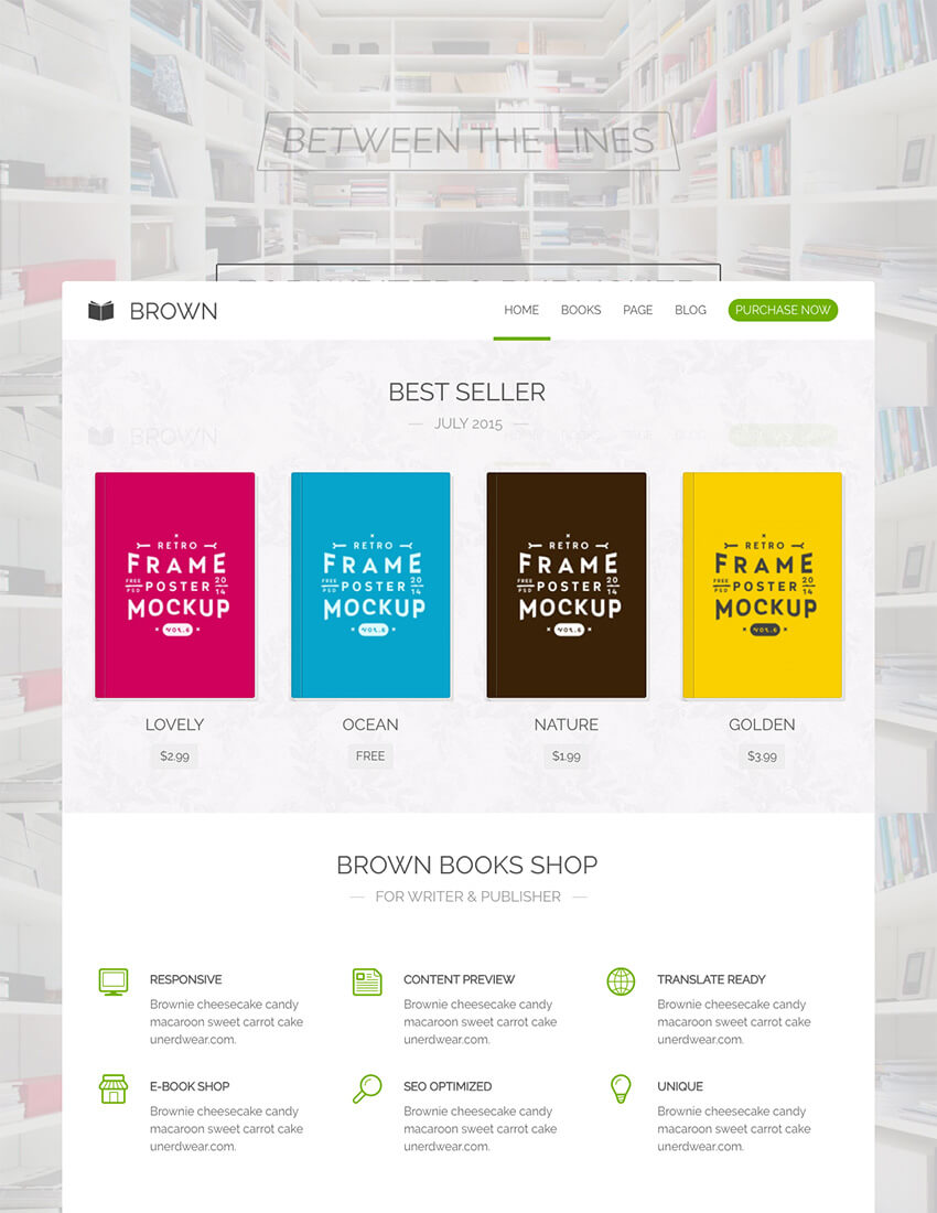 Brown Wordpress Book Theme For Online Promotion