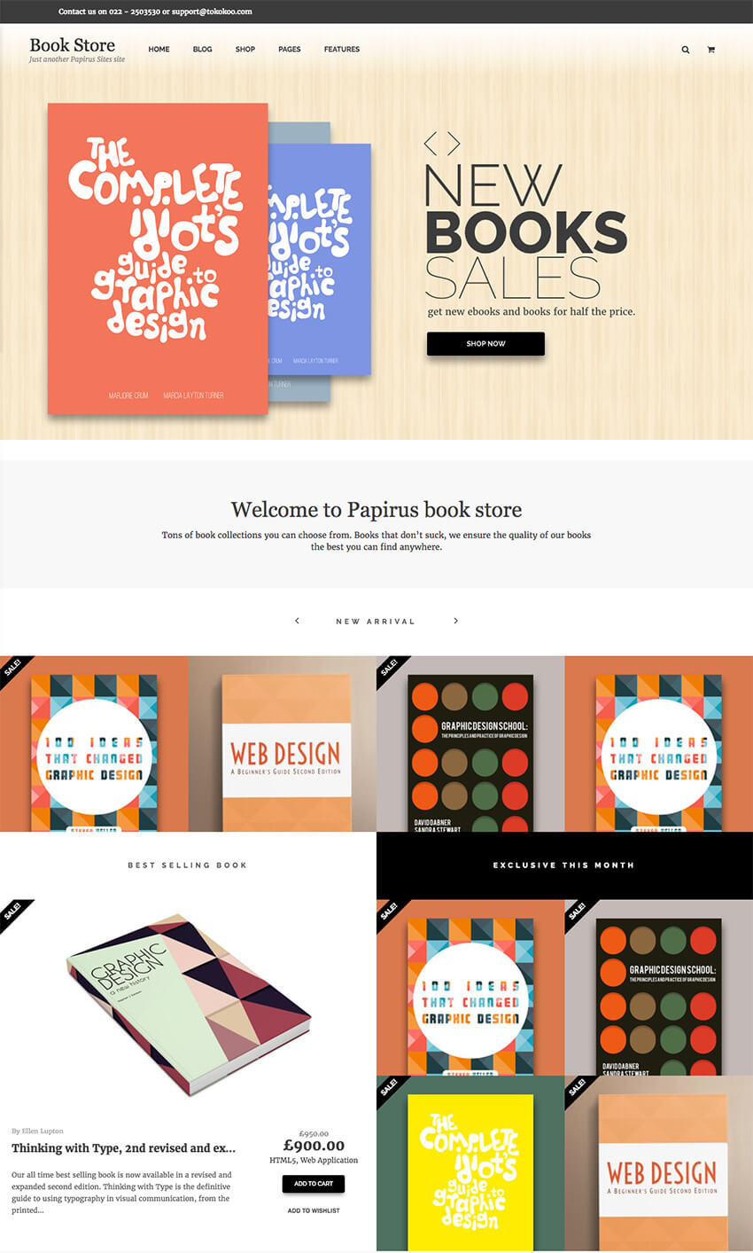 Papirus - WordPress eBook eCommerce Store