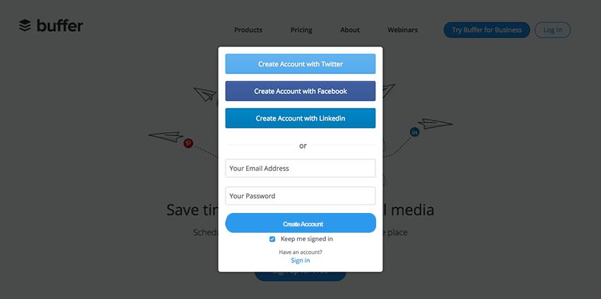 Creating a Buffer account