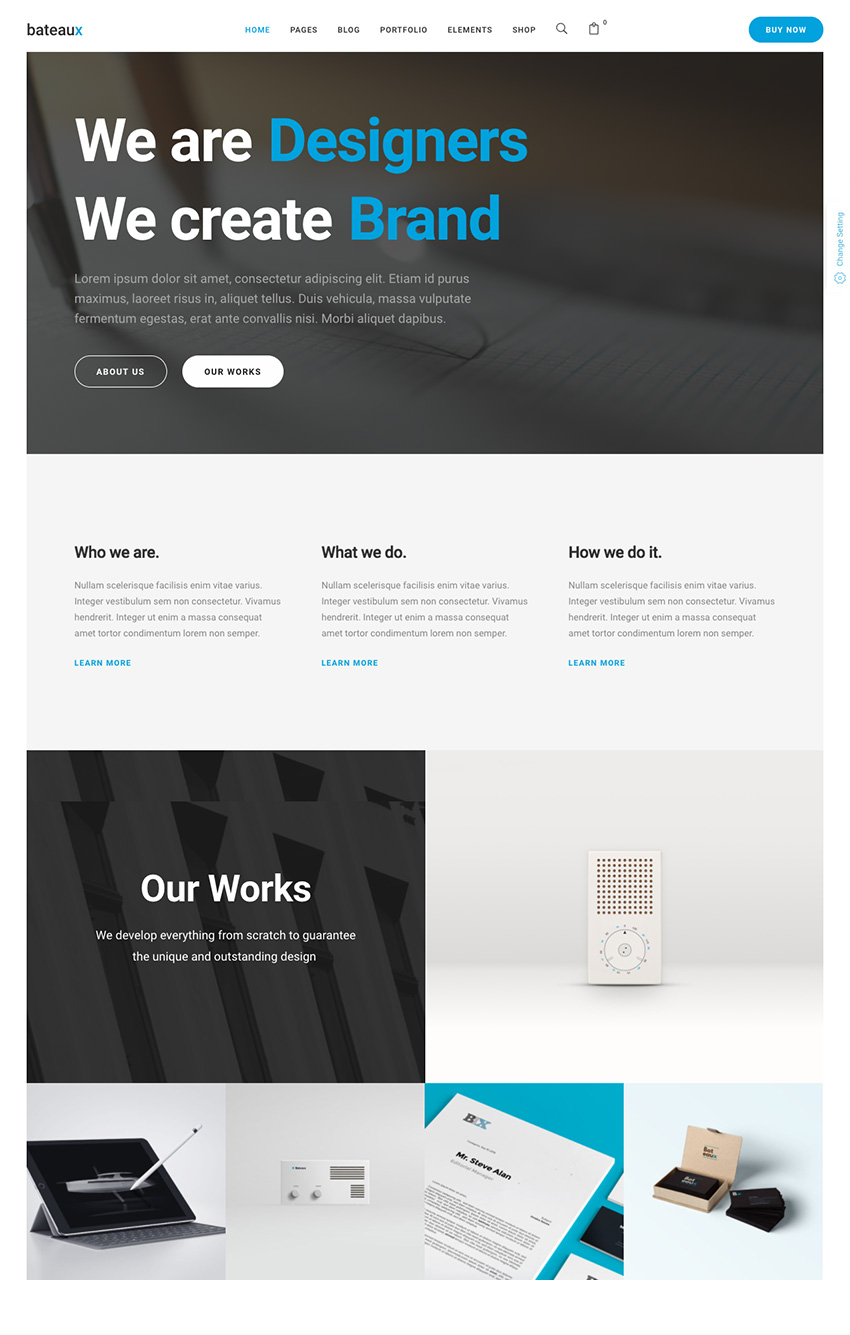 Bateaux Lightweight Agency WordPress Theme Design