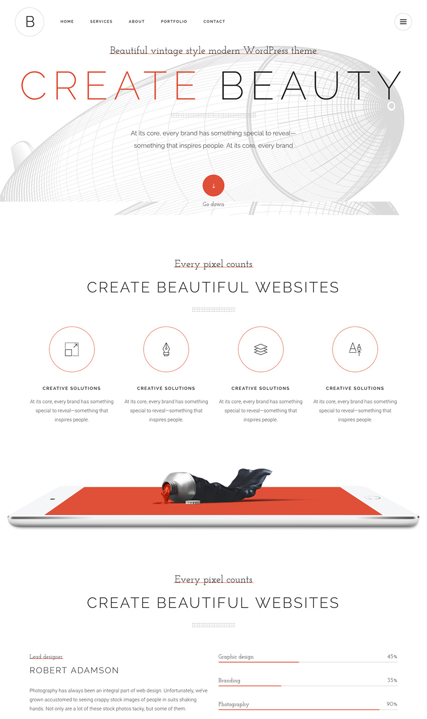 Bridge Creative Agency WordPress Theme With Animation