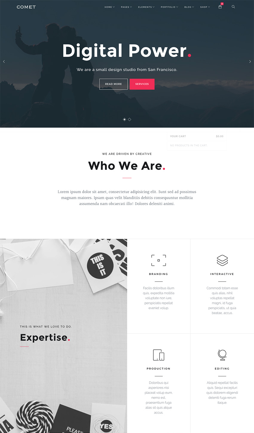 Comet Responsive Agency WordPress Theme