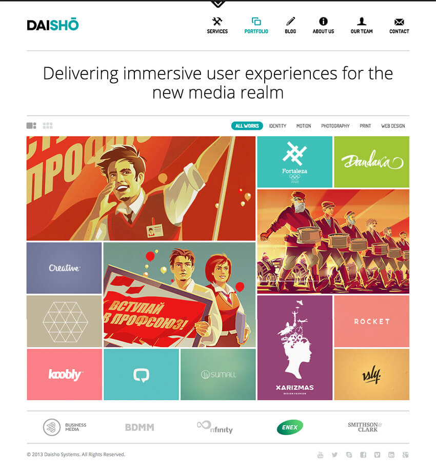 Daisho Responsive WordPress Portfolio Theme for Agencies