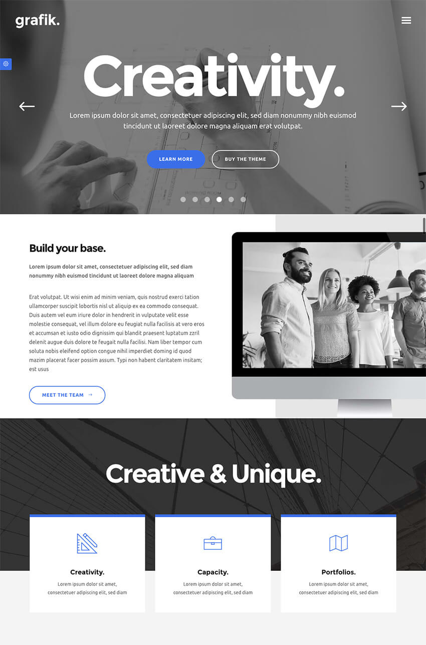 Grafik WordPress Agency Theme for Portfolio Layouts