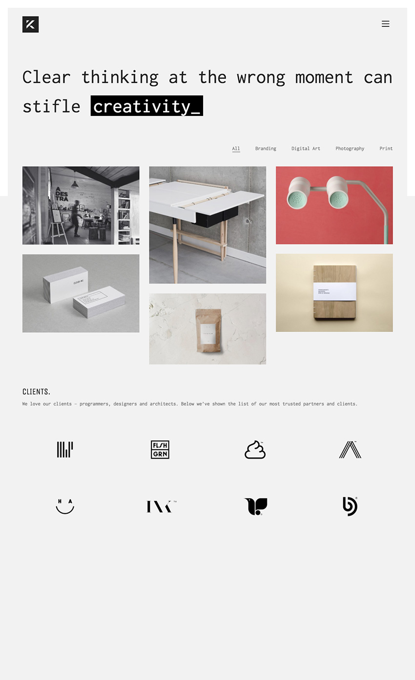 Kalium Minimal and Responsive Agency WordPress Theme