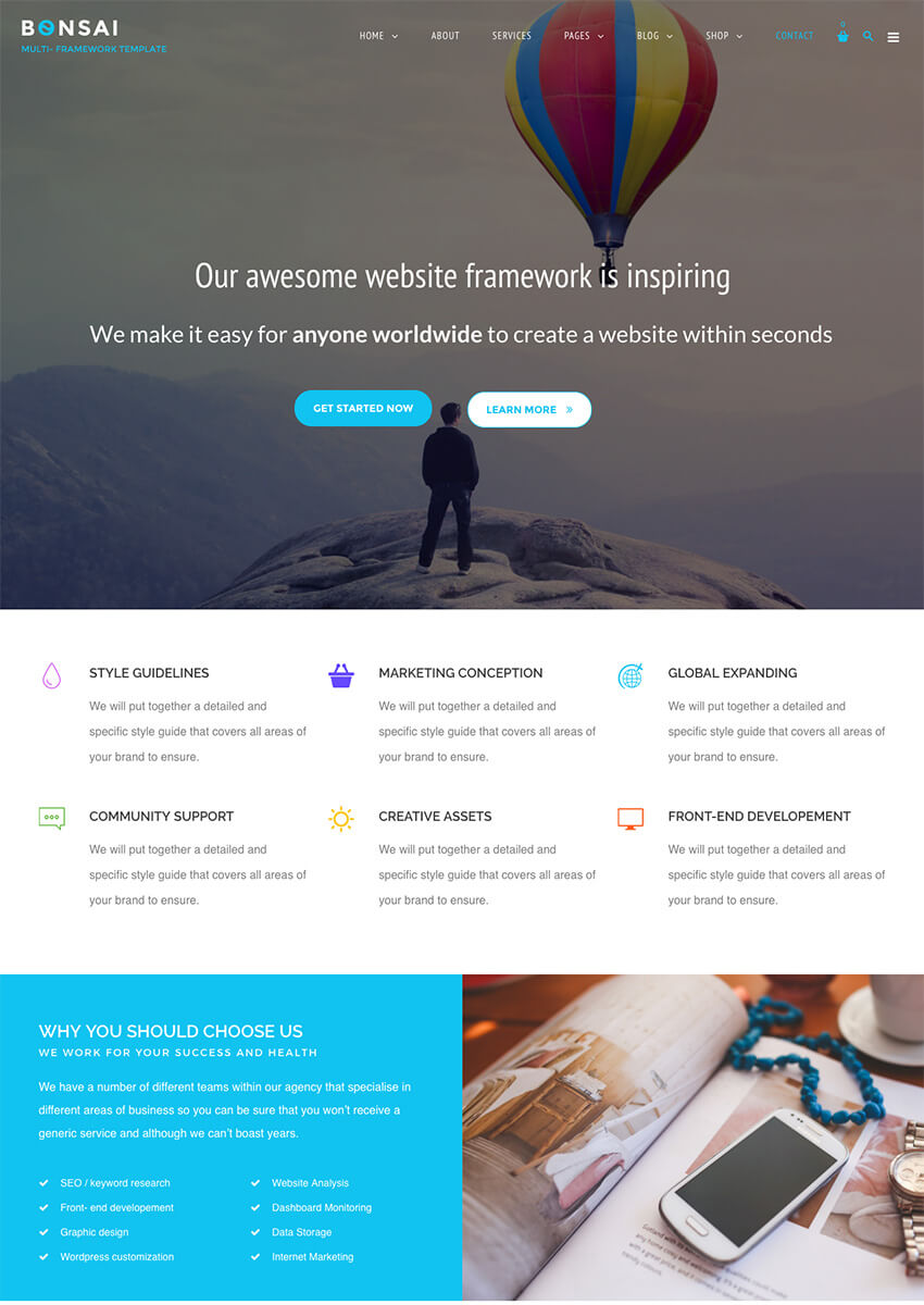 London Creative Awesome Agency WordPress Theme