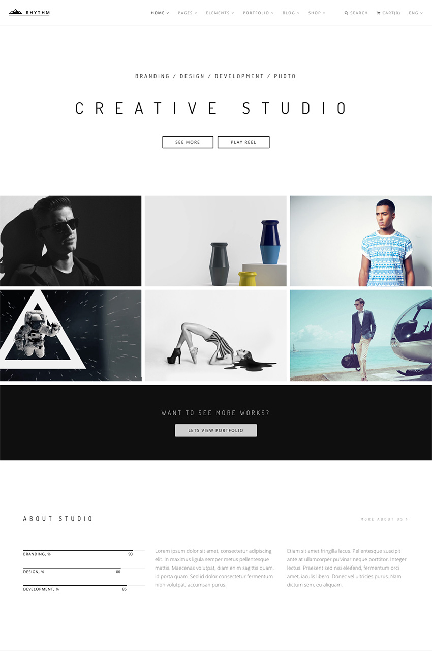 Rhythm Multiple Layout Creative WordPress Agency Theme