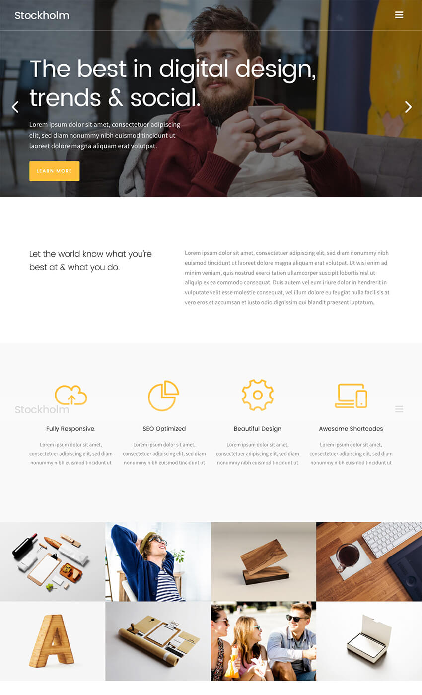 Stockholm Creative Agency WordPress Design Theme