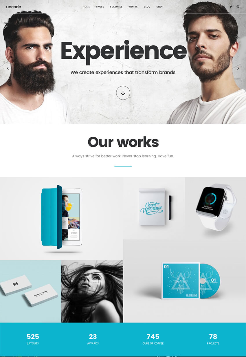 Uncode Modern Agency WordPress Website Theme