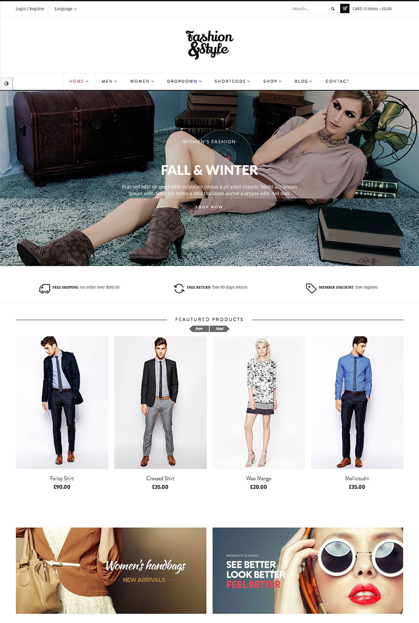Moda elegante eCommerce WordPress Marketplace Tema