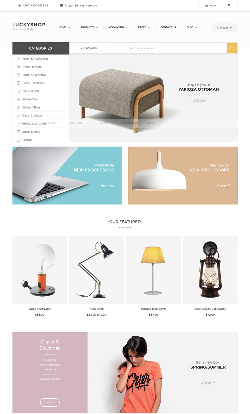 Lucky Shop Responsive Marketplace WordPress Theme