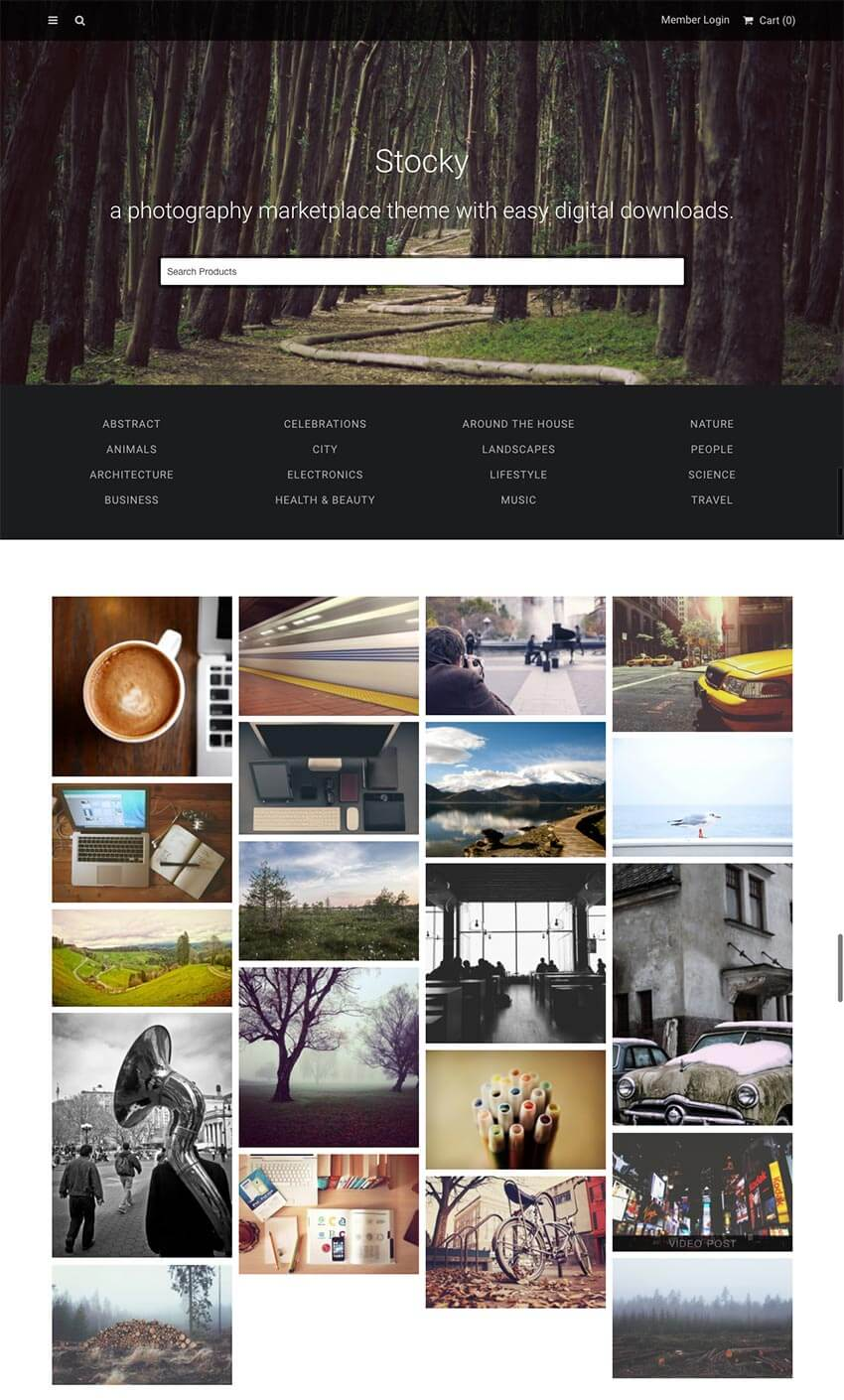 Stocky - A Fotografía de archivo WordPress Marketplace Theme