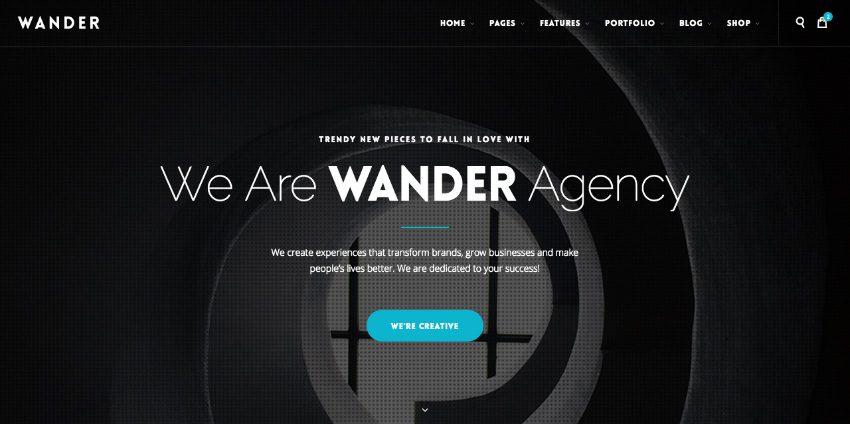 Wander website template