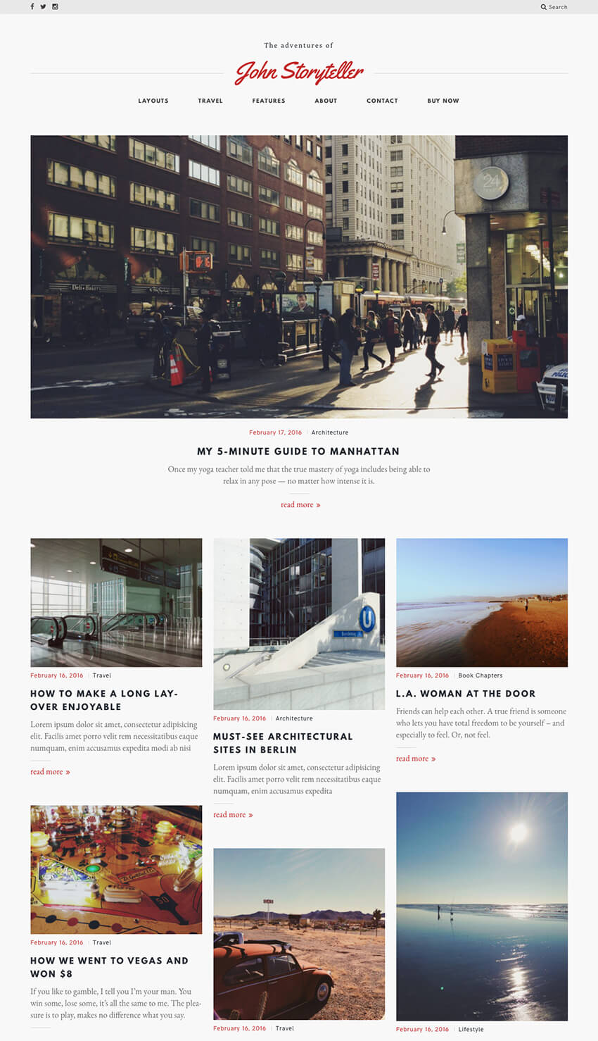 Storyteller Content Personal WordPress Blog theme