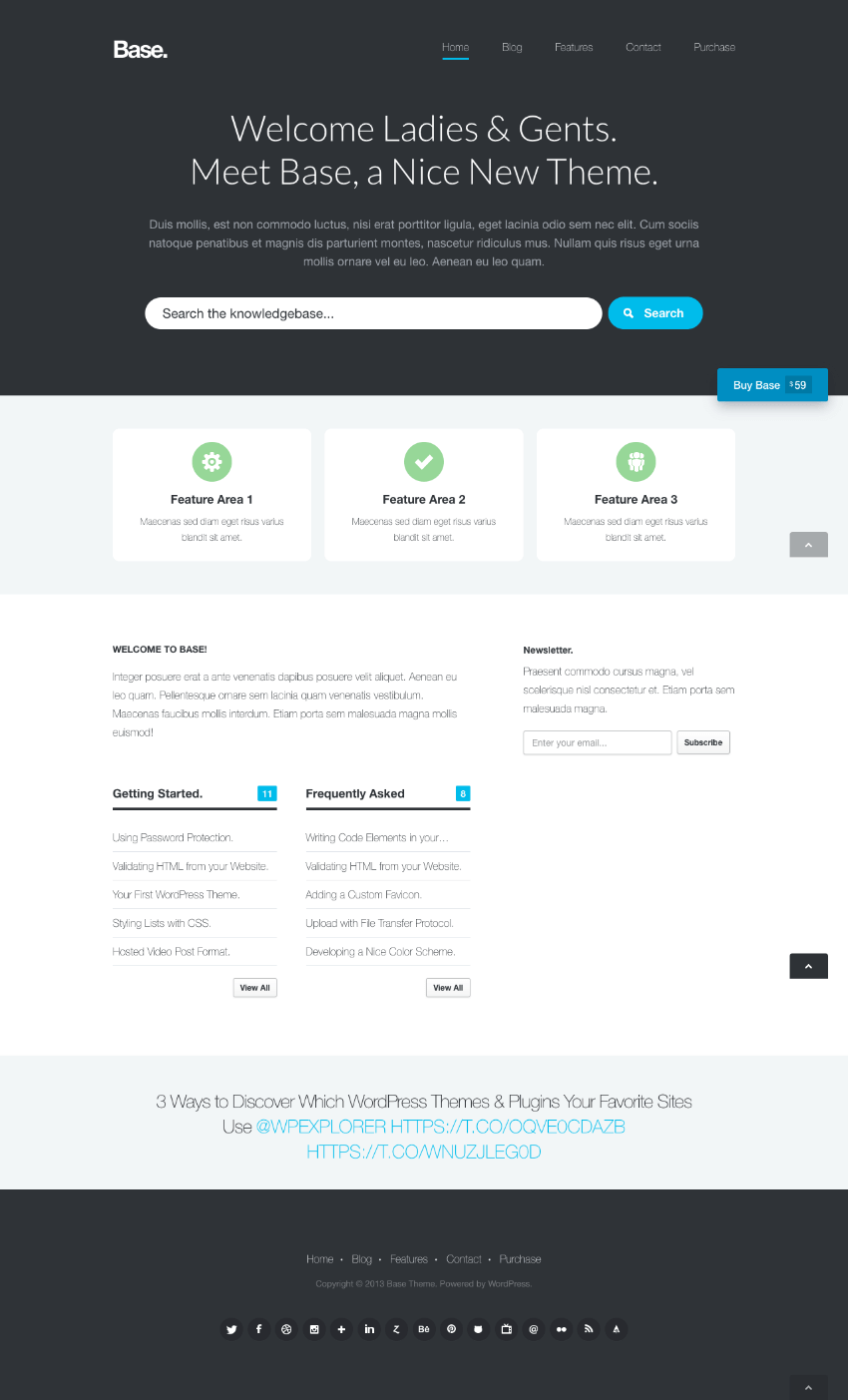 Base Clean Knowledge Base Wiki WordPress Theme