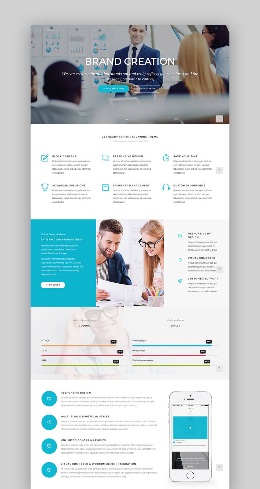 Roneous Modern Popular WordPress theme