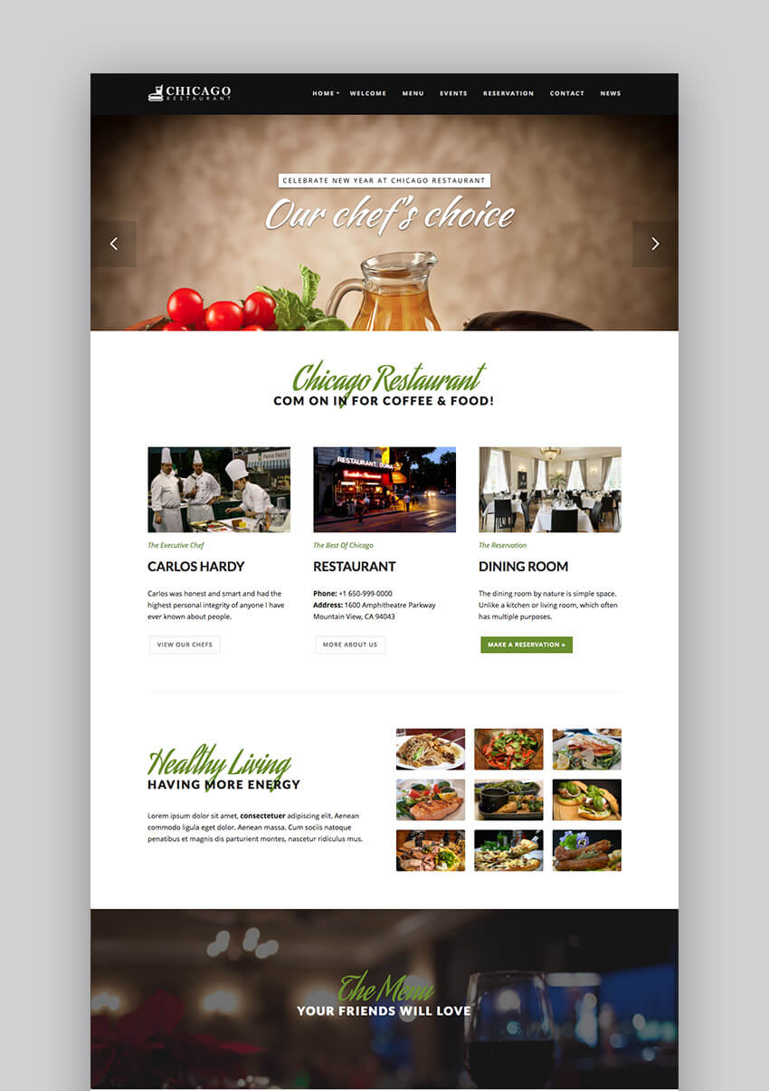 Bien connu 22+ Best Restaurant WordPress Themes: With Premium Responsive Designs LN12