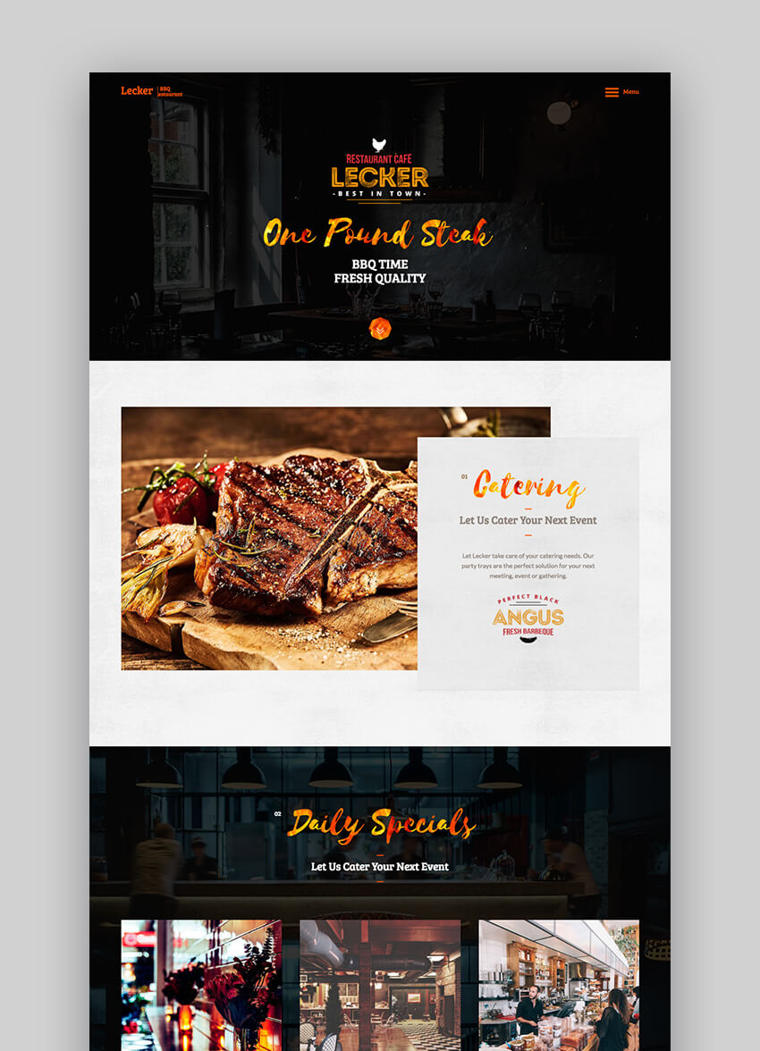 Lecker Premium responsive WordPress theme