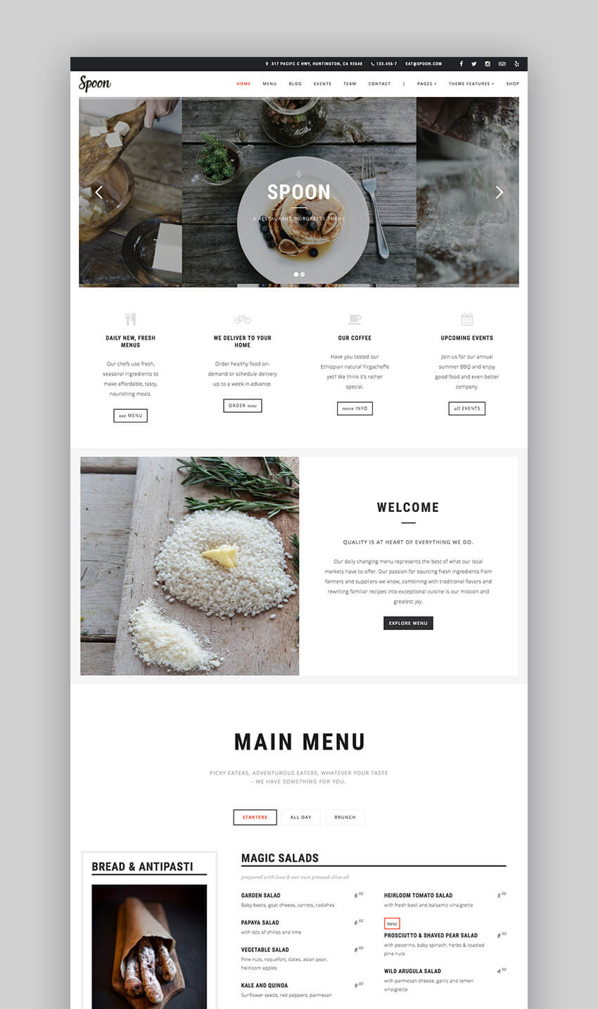 Souvent 22+ Best Restaurant WordPress Themes: With Premium Responsive Designs NH87
