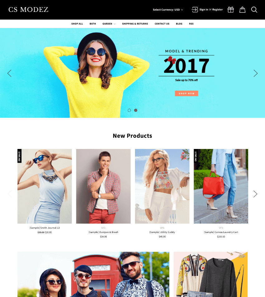 Modez BigCommerce theme