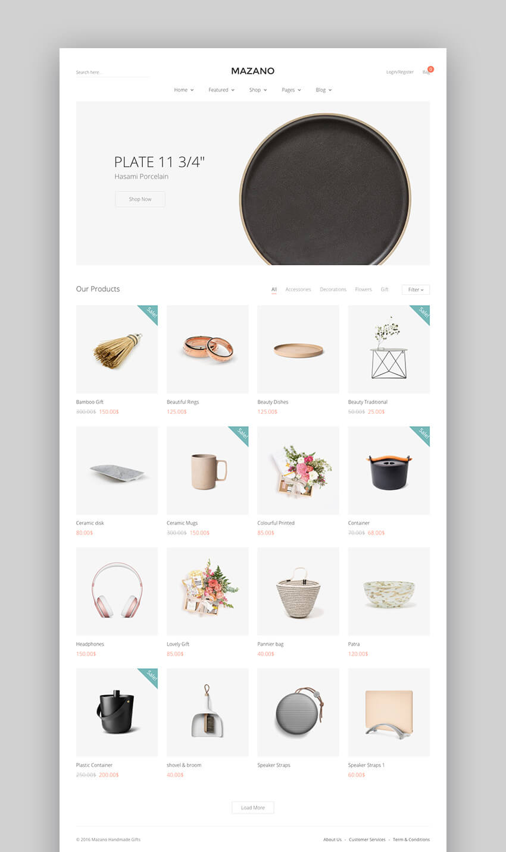Mazano Trendy WooCommerce Flat Theme