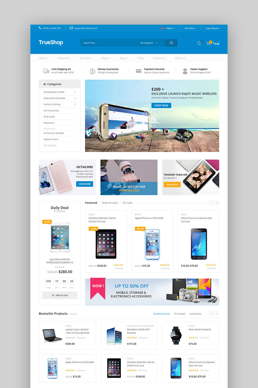 TrueShop fashion WordPress theme