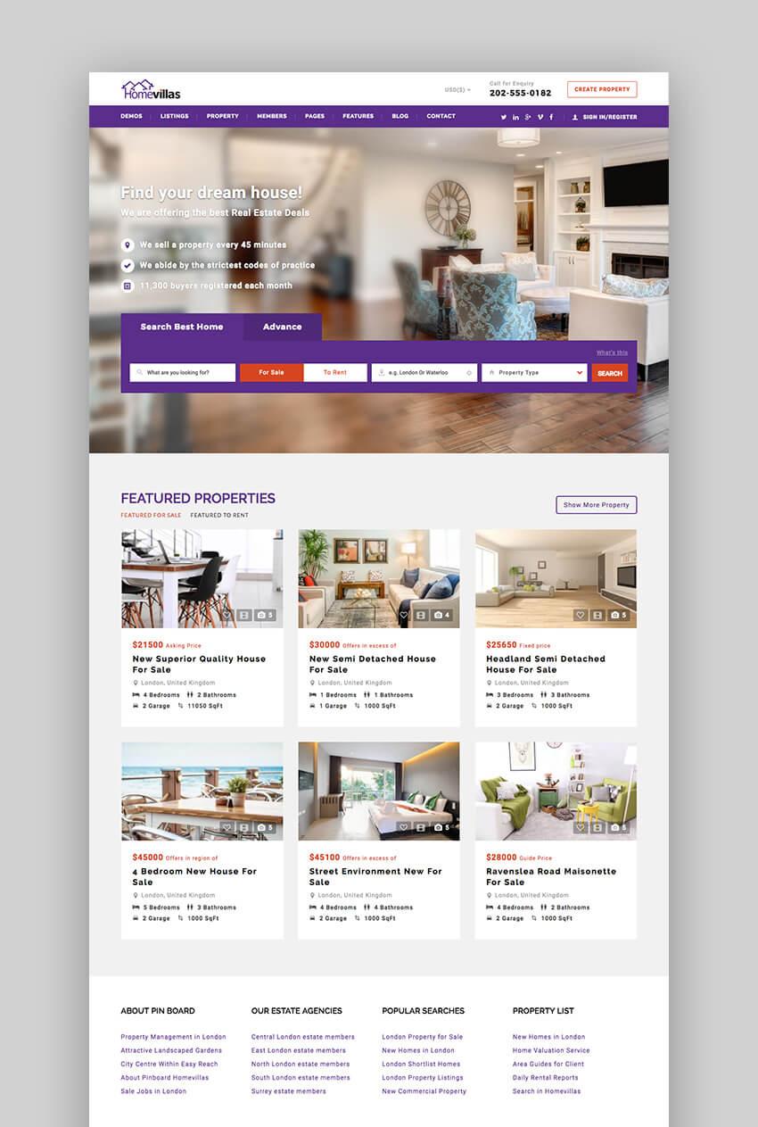Home Villas Responsive WordPress Real Estate Theme
