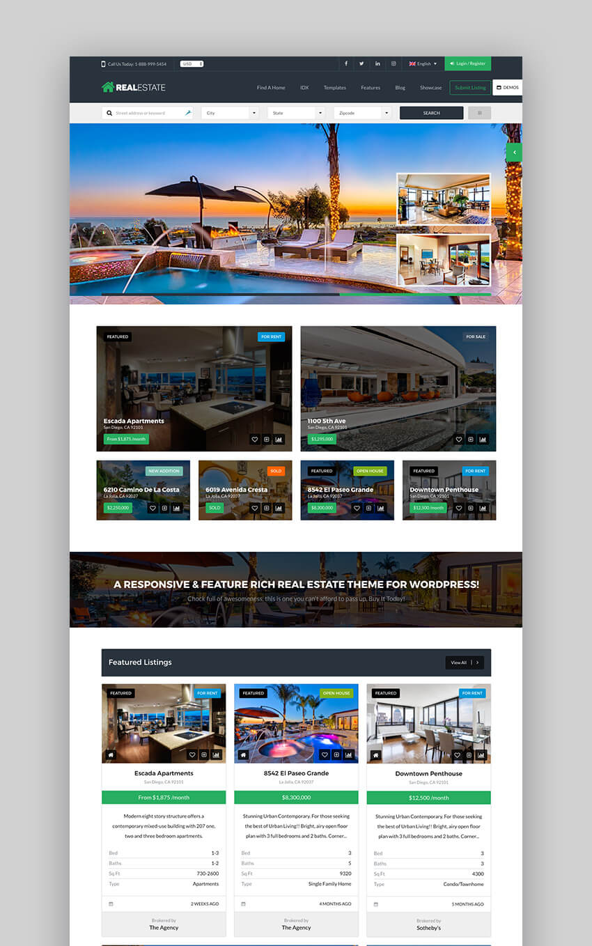 Real Estate 7 Premium WordPress Theme