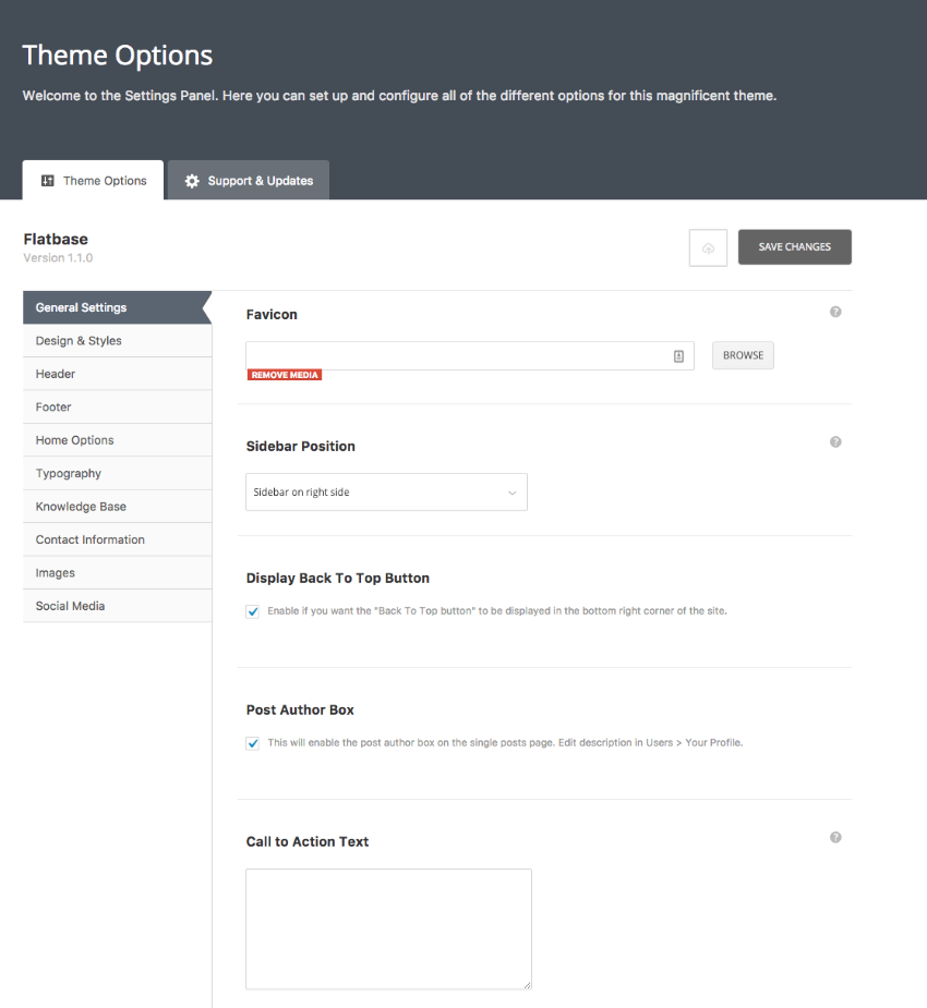 Wiki Theme Settings in WordPress