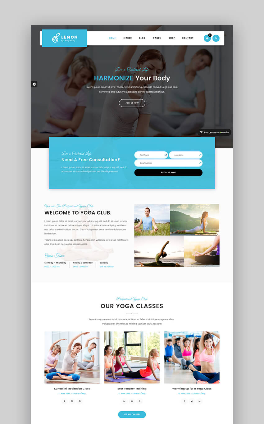 Lemon Salon and Spa WordPress Theme Websites