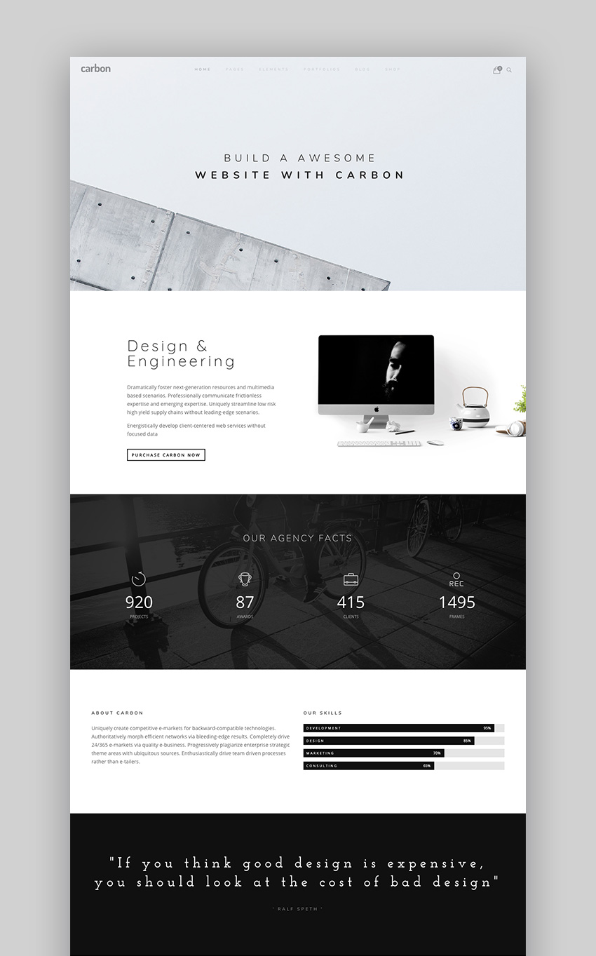 Carbon - Innovative Simple WordPress Theme