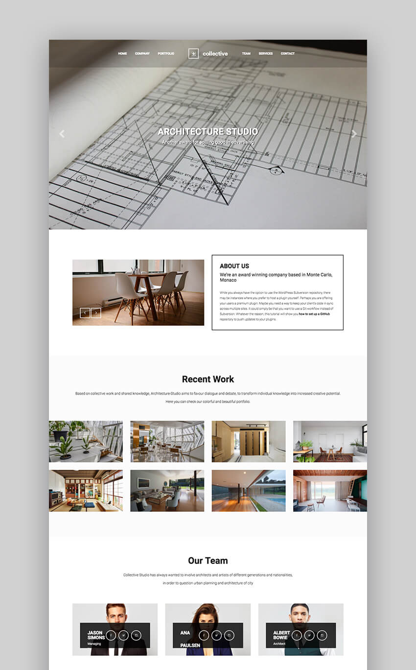 Collective - Basic Minimal WordPress Theme for Creatives