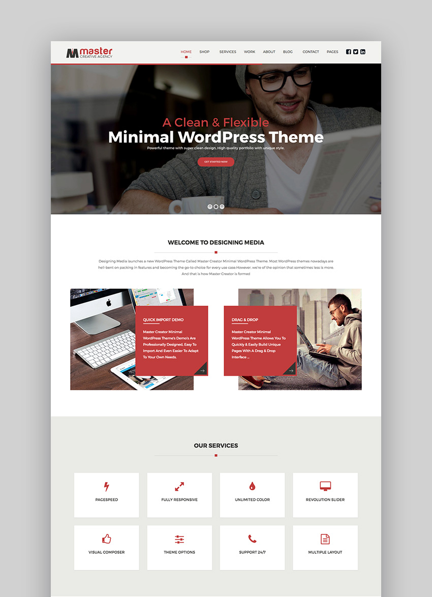 MasterCreator - Simple Responsive WordPress Theme